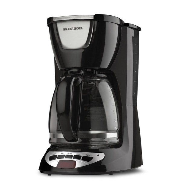 Black & Decker 12-cup Black Programmable Coffeemaker 8889086