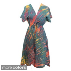 V-neck Tie-dye Dress (Nepal)