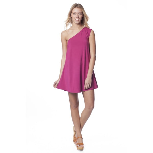 AtoZ Women's One-shoulder Mod Mini Dress