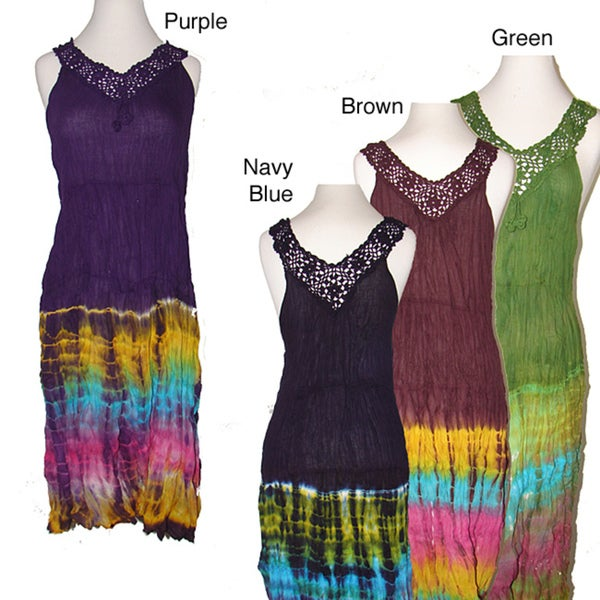 Tie-dye Crochet Dress (Nepal)