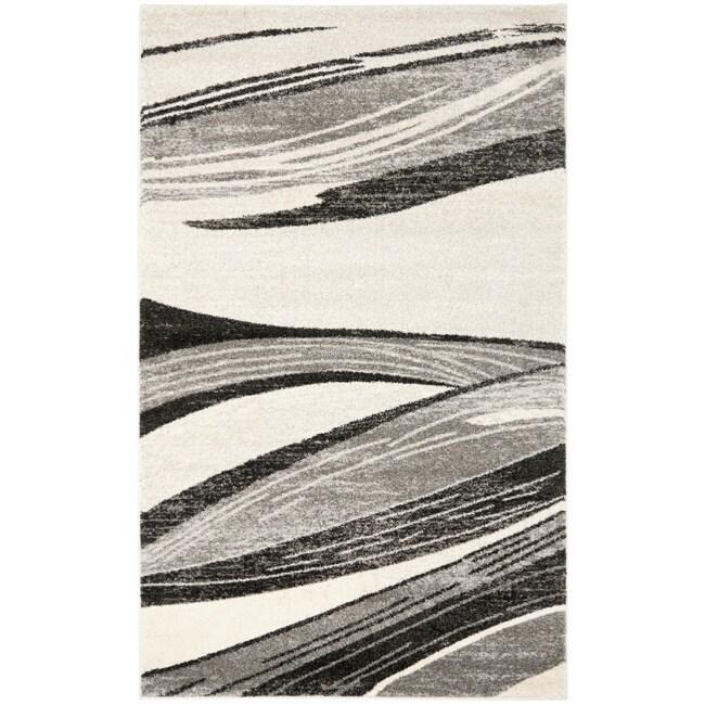 Safavieh Deco Inspired Light Grey/ Ivory Rug (8' x 10')