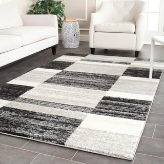 Hand Tufted Contemporary Black White Wool Abstract Rug 5