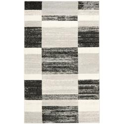 Deco Inspired Black/ Light Grey Rug (8' x 10')