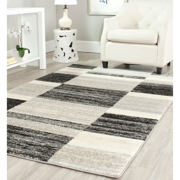 Safavieh Deco Inspired Black/ Light Grey Rug (8' x 10')