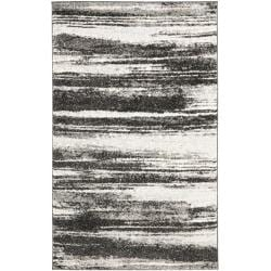 Deco Inspired Dark Grey/ Light Grey Rug (4' x 6')