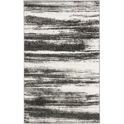 Deco Inspired Dark Grey/ Light Grey Rug (5' x 8')