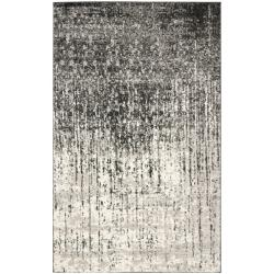 Deco Inspired Black/ Grey Rug (4' x 6')