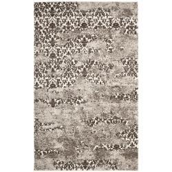 Deco-Inspired Beige/Light Gray Polypropylene Rug (4' x 6')