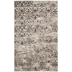Deco Inspired Beige/ Light Grey Abstract Rug (5' x 8')