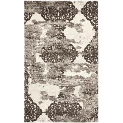 Deco Inspired Beige/ Light Gray Polypropylene Rug (5' x 8')