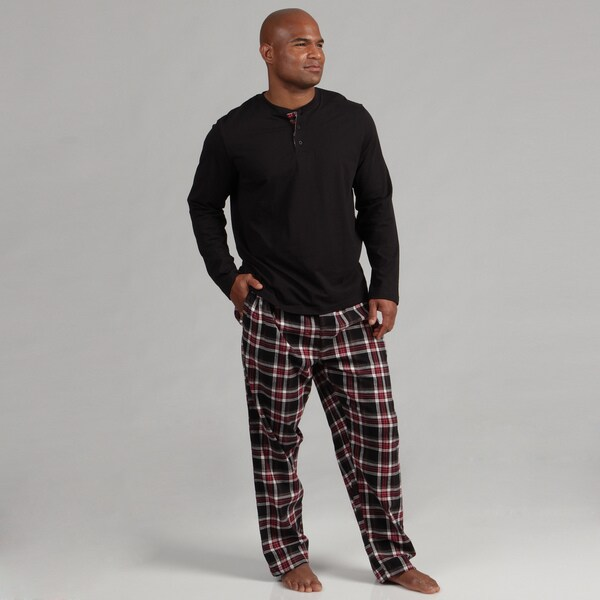 Majestic Men's Henley and Flannel Pant Set