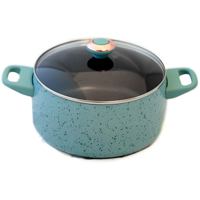 Paula Deen Signature Robin's Egg Blue Porcelain 6-quart Stockpot
