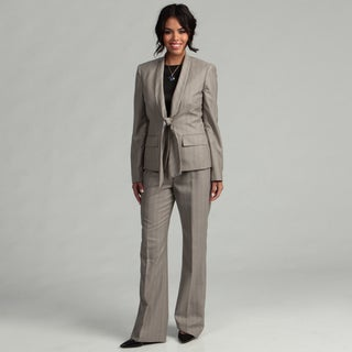 Anne Klein Women's 1-button Shawl Collar Pant Suit