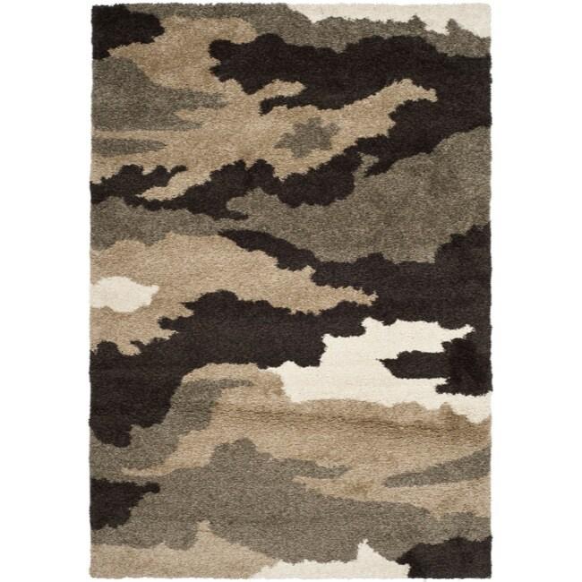 Safavieh Hand-woven Ultimate Beige/ Brown Shag Rug (8'6 x 12')