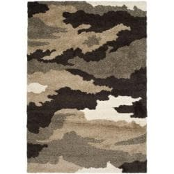 Hand-woven Ultimate Beige/ Brown Shag Rug (8'6 x 12')