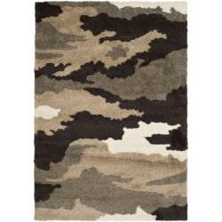 Safavieh Hand-woven Ultimate Beige/ Brown Shag Rug (8'6 x 12')