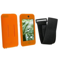 BasAcc Orange/Black Skin Case w/ Armband for iPod Touch