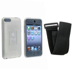 BasAcc White/Black Skin Case w/ Armband for iPod Touch