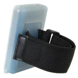 INSTEN Blue/ Black Skin iPod Case Cover w/ Armband for iPod Touch