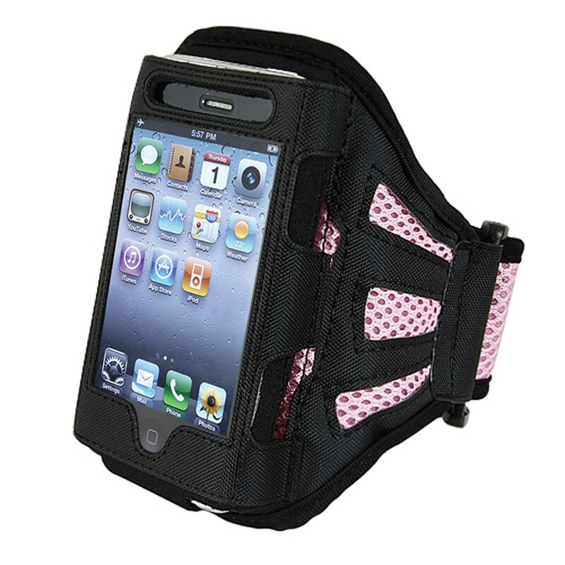 INSTEN Pink Apple iPhone/ iPod Touch Deluxe Armband iPod Case Cover