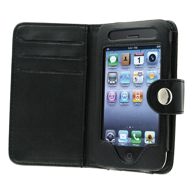 INSTEN Wallet Leather Phone Case Cover for Apple iPhone