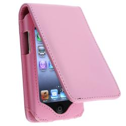 BasAcc Pink Leather Case/ Lanyard Kickstand for Apple iPod Touch