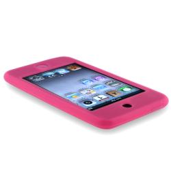 INSTEN Hot Pink Soft Silicone Skin iPod Case Cover for Apple iPod Touch Gen2