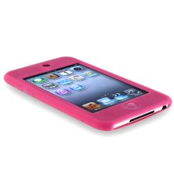 BasAcc  Hot Pink Silicone Skin Case for Apple iPod Touch Gen2