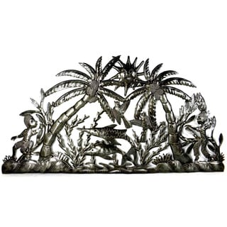 The River' Recycled Steel Drum Wall Art (Haiti)