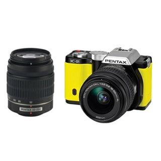 Pentax K01 16MP Yellow Digital SLR Camera with 18-55 50-200 Lens