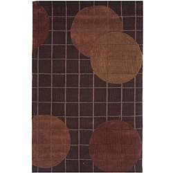 "Hand-tufted Dynasty Brown Area Rug (7'9""x10'9)"