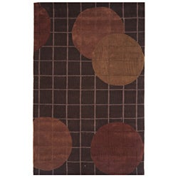 Hand-tufted Dynasty Brown Area Rug (3'6 x 5'6)
