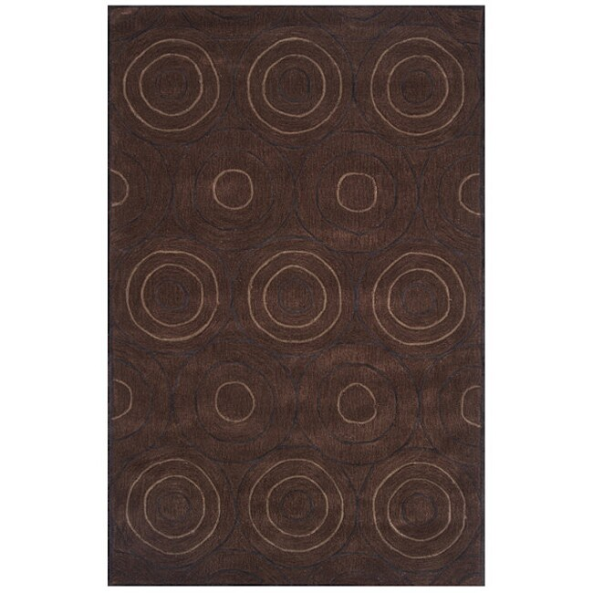 Overstock.com Hand-tufted Dynasty Brown Area Rug (7'9 x 10'9) at Sears.com