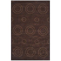 Hand-tufted Dynasty Brown Area Rug (7'9 x 10'9)
