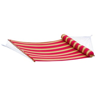 RST Brands Cantina Striped Polyspun Hammock Bed with Bolster Pillow