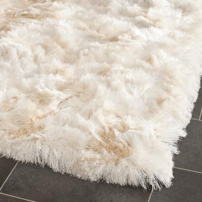 Safavieh Silken Ivory Shag Rug (7' Square)