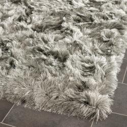Safavieh Silken Silver Shag Rug (7' Square)