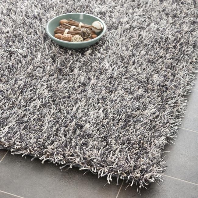 Safavieh Medley Textured Shag Platinum Rug (7' Square)