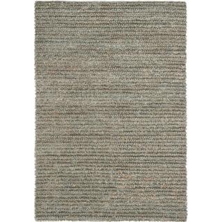 Hand-woven Metro Grey Shag Rug (6' x 9')
