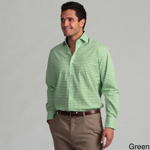 Thomas Dean Men's Plaid Woven Shirt