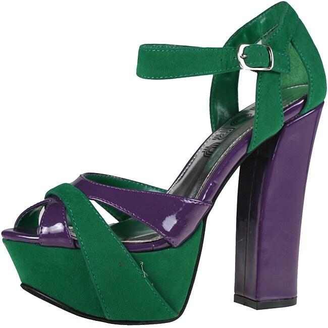 Refresh by Beston Women's 'DEENA-02' Faux Leather Heels