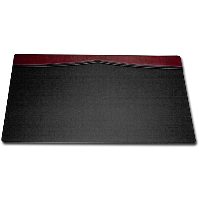 Dacasso Burgundy Leather Top-rail Desk Pad (34 x 20)