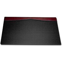Dacasso Burgundy Leather Top-rail Desk Pad (34 x 20)