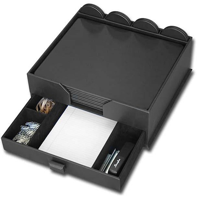 Dacasso Black Leatherette 23-piece Conference Set with Organizer