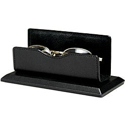 Dacasso Black Leather Eye Glass Holder