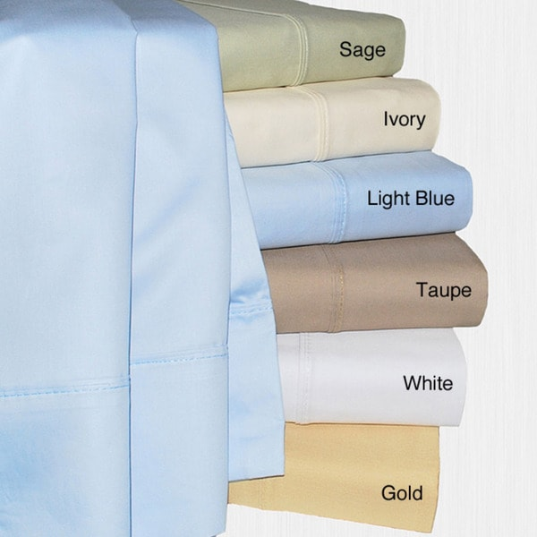440 Thread Count Solid Sateen Queen-size Sheet Set
