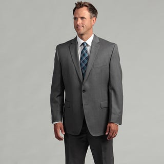 Calvin Klein Men's Light Grey Two-button Wool Suit