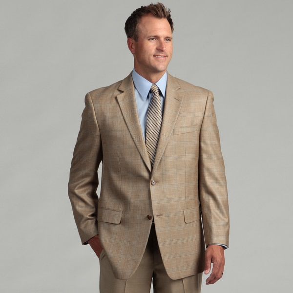 MICHAEL Michael Kors Men's Tan Two-button Silk/Wool Blend Sport Coat