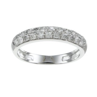 Beverly Hills Charm 10k White Gold 1/2ct TDW Diamond Band (H-I, I2-I3)