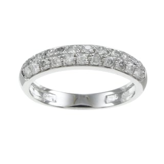 Beverly Hills Charm 10k White Gold 1/2ct TDW Diamond Wedding Band (H-I, I2-I3)